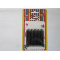 Wholesale Black Flameless Smooth Slim Taper Candles Eco - Friendly Birthday Cake Decoration from china suppliers