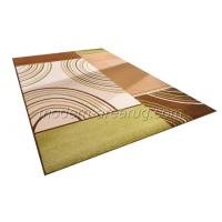 Wholesale Custom Green / Orange Hand-tufted Acrylic Floor Rugs, Handmade Modern Area Rug from china suppliers