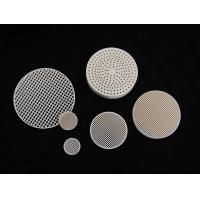 Wholesale Custom Round Anti-acid / alkali 2MgO + 2Al2O3 + 5SiO2 Industrial Honeycomb Ceramic Plate from china suppliers