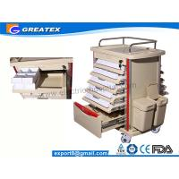 Wholesale Hospital Plastic Medical Storage Trolley / Dental Drug Dispensary Cart With Wheels   (GT-TAQ201) from china suppliers