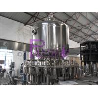 Wholesale Stainless Steel Juice Hot Filling Machine , Silver Gray Monoblock Filling Machine from china suppliers
