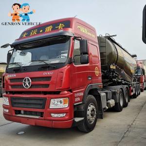 China Lime Transport 43cbm 60Ton Bulk Cement Tanker Trailer on sale