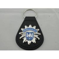 Wholesale 3D BUNDESPOLIZEI Leather Keychain, Customized Keychains with Zinc Alloy Enamel Emblem from china suppliers