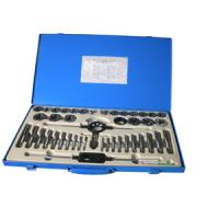 Wholesale 45 PCS Tin coated Tap and Die Sets with Iron box , Durable Industrial Tool Set from china suppliers