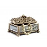 Wholesale Baroque Leaves Antique Gold Trinket Box / Beautiful Resin Jewelry Box from china suppliers