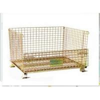 Quality Stackable foldable zinc finished wire mesh container for sale