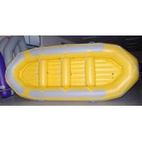 Wholesale 470 Cm 12 Person Inflatable Raft , Heavy Duty PVC Inflatable Drift Boat With Double Airmat from china suppliers