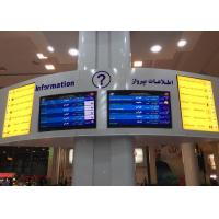 Wholesale Full Color Airport Scrolling Message Signs , Airport Flight Information Board from china suppliers