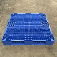 Wholesale Heavy Duty Blue Reusable Plastic Pallets Deck , Lightweight Plastic Pallets Huge Loading from china suppliers