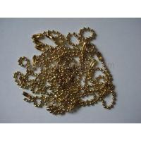 Wholesale Golden ball chain, bead chain, metal ball chain, metal accessory from china suppliers
