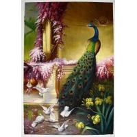 Wholesale Decoration Animal Oil Painting of Peafowl from china suppliers