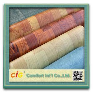 Wholesale Custom Printing Wood Grain Artos PVC Floor Covering , Plastic Floor Coverings for Wedding from china suppliers