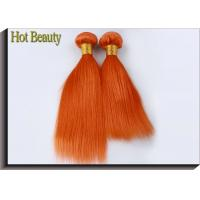 Buy cheap Customized Orange Hair Silk Straight 100% Human Hair Double stitch weft from wholesalers