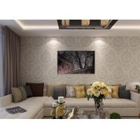 Wholesale White Gray Embossed Retro Vintage Wallpaper With Symmetric Floral Pattern from china suppliers