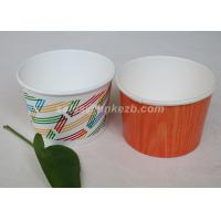 Wholesale Multi Size Ice Cream Paper Cups With Lids , Disposable Ice Cream Bowls from china suppliers