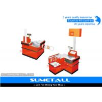 Wholesale Anti Rust Retail Checkout Counter Cash Wrap Desk With Electrostatic Spray Surface from china suppliers