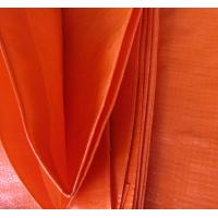 Wholesale Anti UV Double orange color&100% new material 140grams polyethylene tarps/tarpaulin fabric from china suppliers