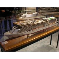 Wholesale Large Exhibition Wooden Cruise Ship Models , Celebrity Solstice Model With Print Logo from china suppliers