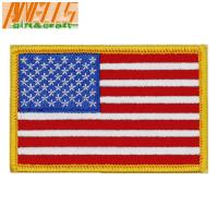 China Square Iron On Embroidery Patch Dry Cleanable Sew On Embroidered Patches on sale
