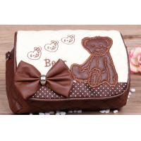 Wholesale Small Kindergarten Cute Cubs Over The Shoulder Leather Bags with Butterfly Knot from china suppliers