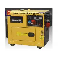 Wholesale Single Cylinder Soundproof 6kVA Diesel Powered Generator With 3 Phase Direct Injection from china suppliers