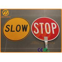 Wholesale Anti UV Reflective Traffic Warning Signs Telescopic Pole Aluminum Plate Slow Stop Bat from china suppliers