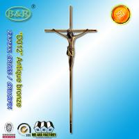 Wholesale Gold color funeral cross decoration , ornamental cross D012 size 45*18cm from china suppliers