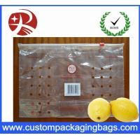 Wholesale 100 % PE Ziplock Fruit Packaging Bags With Holes For Lemon from china suppliers