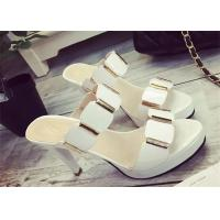 Wholesale Slip On High Heels Sandals , Ladies Dress Sandals With Metal Ornament Strap Upper from china suppliers