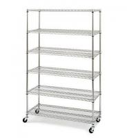 "Quality 6 Tiers Chrome Steel Industrial Wire Shelving 18""x48""xH74"", NSF &  Approval for sale"
