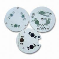 Wholesale 1W LED MCPCB with 1oz Copper, 0.25mm Hole Diameter and 2.0mm Board Thickness from china suppliers