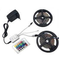 Wholesale 10m RGB LED strip light 3528 SMD diode ribbon tape non waterproof 600leds+24 Key remote controller +DC 12V Adapter Power from china suppliers