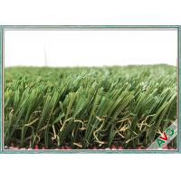 Wholesale Professional Natural Artificial Grass Turf , School / Backyard / Garden Fake Grass from china suppliers