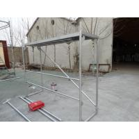 Wholesale Walk through scaffolding Walkthrough frame with diagonal brace and polywood plank from china suppliers