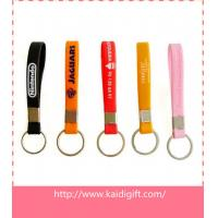 Wholesale custom silicone wristband keychain with metal ring in cheap price and fast delivery from china suppliers