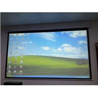 Wholesale 108 X 81inch Automatic Movie Screen , Wall Mount Projector Screen Portable from china suppliers