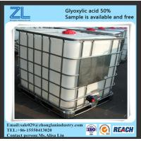 Wholesale Pharmaceutical Intermediates Glyoxylic Acid Yellow Liquid Cas 298-12-4 from china suppliers
