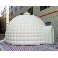 Quality 8m Pvc Tarpaulin Whit Inflatable Dome Tent with 2 Doors for Sale for sale
