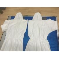 China Disposable microporous industry coverall with flap,PP or SMS non-woven,white protecitve coverall against oil on sale