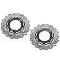 Wholesale 6061 Aluminum Motorcycle Brake Disc Suzuki DL V STROM 650 GSX650F Black Gold from china suppliers