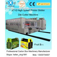 Wholesale Four Colours Flexo Printer Slotter Rotary Die Cutter with Stacker Machine from china suppliers