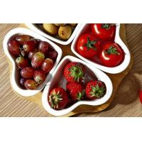Wholesale European heart Snack plate compote Bamboo and wood seasoning disc White ceramic plate from china suppliers