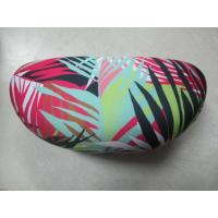 Wholesale Zebra Cloth Leather Clamshell Eyeglass Case Customised With Golden Foil Printing from china suppliers