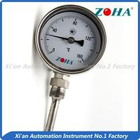 Wholesale Dial Type Metal Stem Thermometer / Small Bimetallic Temperature Gauge from china suppliers