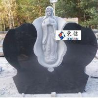 Buy cheap Black Granite Virgin Mary Tombstone from wholesalers