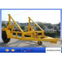 Wholesale Multifunction cable drum trailer, cable reel carrier for hauling and lifting from china suppliers