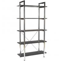 Wholesale Anti - Rust Tall Office Modern Metal Bookcase Adjustable With Metal Plate Rack from china suppliers