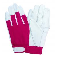 Wholesale Full palm ladies Durable goat / pig skin leather work glove EN388 with nylon back from china suppliers