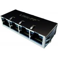 Wholesale Equivalent to JXG0-0098NL 4 Port Gigabit Rj-45 Latch Up with LEDs from china suppliers