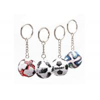 Wholesale Mini 3D Cartoon Pvc Rubber Keychain , Football Shape Soft Pvc Custom Keyrings from china suppliers